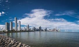 De Stadshorizon van Panama - de Stad van Panama, Panama Royalty-vrije Stock Afbeelding