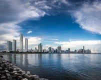 De Stadshorizon van Panama - de Stad van Panama, Panama Royalty-vrije Stock Foto