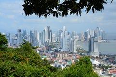 De Stadshorizon van panoramapanama in Panama royalty-vrije stock foto's