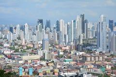 De Stadshorizon van panoramapanama in Panama stock foto