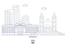 De Stadshorizon van Phoenix, de V.S. Stock Afbeeldingen