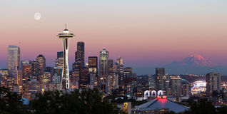 De Stadshorizon van Seattle van Kerry Park Royalty-vrije Stock Foto