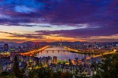 De stadshorizon van Seoel Royalty-vrije Stock Fotografie