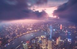 De stadshorizon van Shanghai Royalty-vrije Stock Foto's
