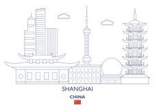 De stadshorizon van Shanghai, China Royalty-vrije Stock Foto's