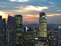 De stadshorizon van Singapore Royalty-vrije Stock Afbeeldingen