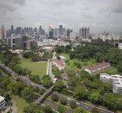 De Stadshorizon van Singapore CBD en het Geplande Modelleren Stock Afbeelding