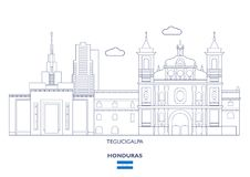 De Stadshorizon van Tegucigalpa, Honduras Royalty-vrije Stock Foto's