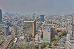 De stadshorizon van Tokyo De luchtmening van de Bunkyoafdeling Stock Foto