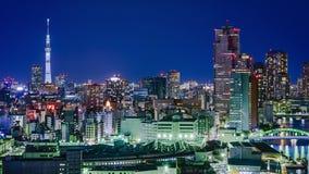 De Stadshorizon van Tokyo Japan Royalty-vrije Stock Afbeelding