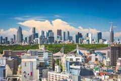 De Stadshorizon van Tokyo, Japan royalty-vrije stock foto's