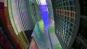 De stadshorizon van Tokyo met code en gegevens stock fotografie