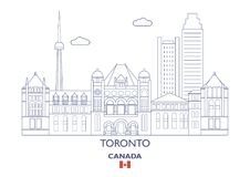 De Stadshorizon van Toronto, Canada Royalty-vrije Stock Foto