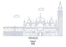 De Stadshorizon van Venetië, Italië Stock Fotografie