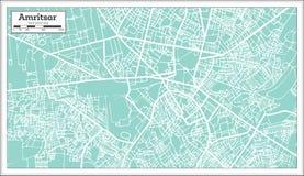 De Stadskaart van Amritsarindia in Retro Stijl royalty-vrije illustratie