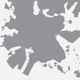De stadskaart van Helsinki in grijs op een witte achtergrond stock illustratie
