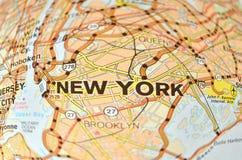 De stadskaart van New York Royalty-vrije Stock Afbeelding