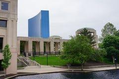 De stadskanaal van Indianapolis en overheidscentrum stock fotografie