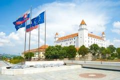 De stadskasteel van Bratislava Royalty-vrije Stock Afbeeldingen