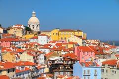 De stadskleuren van Lissabon Stock Afbeeldingen