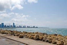 De stadskustlijn van Cartagena royalty-vrije stock foto's