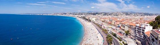 De stadskustlijn van Nice Royalty-vrije Stock Fotografie