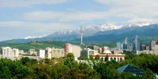 De Stadslandschap van Alma Ata Royalty-vrije Stock Afbeelding