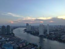 De stadslandschap van Bangkok Stock Afbeeldingen