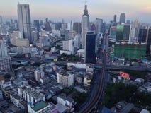 De stadslandschap van Bangkok Stock Foto