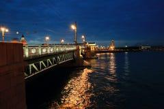 De stadslandschap van de nacht Stock Afbeeldingen