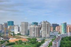 De stadslandschap van Moskou Stock Afbeeldingen