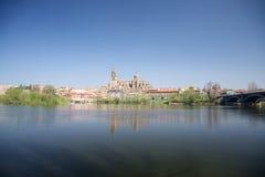 De stadslandschap van Salamanca Stock Afbeelding
