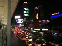 De Stadslichten van Bangkok royalty-vrije stock afbeelding