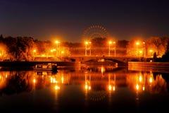De stadslichten van de nacht Stock Foto