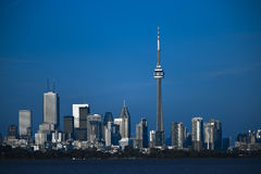 De stadslijn van Toronto Stock Afbeelding