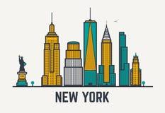 De stadslijnen van New York stock illustratie