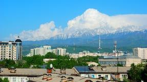 De stadsmening van Alma Ata Royalty-vrije Stock Foto's
