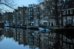 De stadsmening van Amsterdam Royalty-vrije Stock Foto's