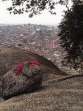 De stadsmening van de bergtop royalty-vrije stock foto's