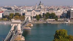 De Stadsmening van Boedapest stock videobeelden