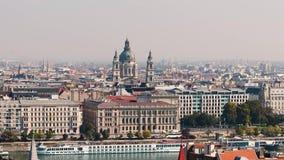De Stadsmening van Boedapest stock video