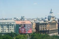 De stadsmening van Boedapest in de zomerdag Royalty-vrije Stock Afbeeldingen