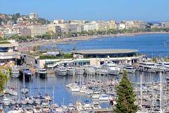 De stadsmening van Cannes, zuiden van Frankrijk Stock Foto's