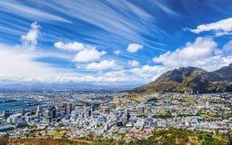 De stadsmening van Cape Town stock foto