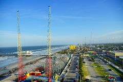 De stadsmening van Daytona Beach Stock Foto's