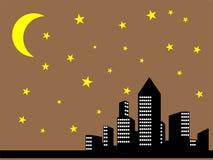 De stadsmening van de nacht Royalty-vrije Stock Afbeelding