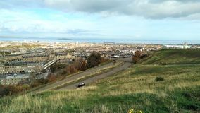 De stadsmening van Edinburgh van Calton-Heuvel stock foto's