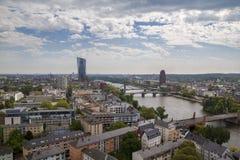 De stadsmening van Frankfurt Stock Foto