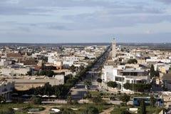 De stadsmening van Gr Jem van het Roman amfitheater van Thysdrus, een stad in Mahdia-gouvernement van Tunesië stock afbeeldingen