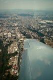 De stadsmening van Guatemala van vliegtuig Royalty-vrije Stock Afbeelding